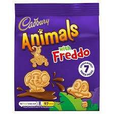 Cadbury Animals Chocolate Biscuits 7x20g | Sainsbury's
