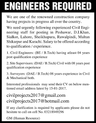 engineers jobs in construction company th