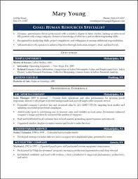 human resource specialist resume sample hr resume hr generalist human resource specialist resume sample hr resume hr generalist entry