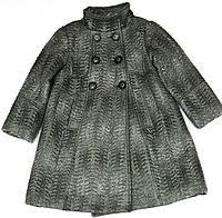 <b>Пальто для девочки</b> демосезонное <b>Wojcik</b> Celine Графитовое ...