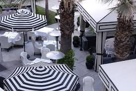 white striped patio umbrella:  images about patio on pinterest stripes architecture and terrace