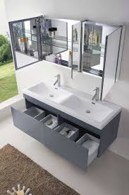 55 inch double sink bathroom vanity:  bathroom vanity abersoch  inch wall mounted double sink grey bath vanity