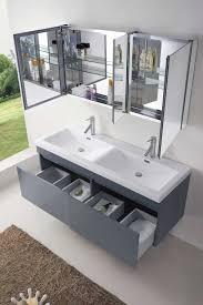 55 inch double sink bathroom vanity:  bathroom vanity abersoch  inch wall mounted double sink grey bath vanity