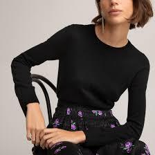 <b>Пуловер</b> с <b>круглым</b> вырезом из тонкого трикотажа, 100 ...
