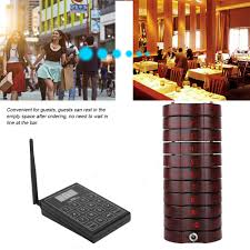 <b>Restaurant Pager 10</b> Channels Wireless Paging Queue Waiter ...