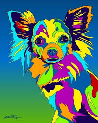 Buy Long-haired Chihuahua Matted Prints & Canvas Giclées at ...