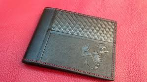 <b>Carbon Fibre</b> & <b>Leather</b> Scorpion Wallet