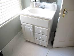bathroom refresh: diy bathroom refresh painted quotbeadboardquot wallpaper polished nickel accents