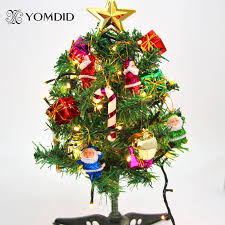 cheap christmas decor: christmas decoration small christmas tree desktop desk table cabin decoration mini christmas tree