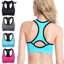 MAIJION Women <b>Sexy</b> Cross Straps Sports <b>Bra</b> Push Up Shockproof ...