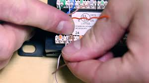 how to punch wires into patch panels