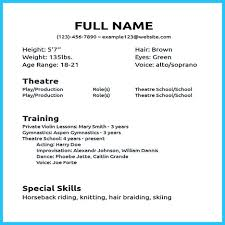musical theater resume no experience cipanewsletter cover letter sample musical theatre resume musical theatre resume