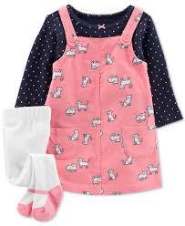 Carter's Baby Girls 3-<b>Pc</b>. Dot-Print T-Shirt, <b>Animal</b>-<b>Print</b> Corduroy ...