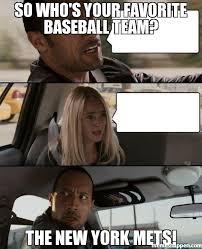 so who's your favorite baseball team? the new york mets! meme ... via Relatably.com