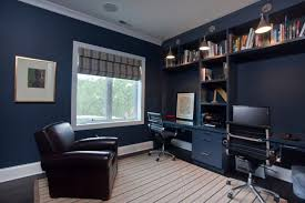 dark blue home office interior blue home offices