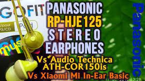 <b>Panasonic RP</b>-<b>HJE125</b> In-<b>Ear Headphones</b> Full Review Vs Xiaomi ...