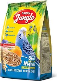 <b>Happy Jungle</b> корм для <b>волнистых</b> попугаев HJ 500гр