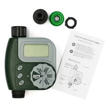 LCD Screen Electronic <b>Automatic Water Timer</b> Sprinkler Controller ...