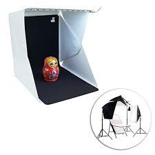 <b>Folding Portable</b> Lightbox <b>Mini Photo</b> Studio <b>Photography</b> LED Light ...