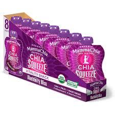 Mamma Chia, <b>Organic Chia Squeeze Vitality</b> Snack, Blackberry ...