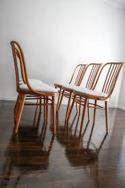 SET OF <b>6</b> Ligna Drevounia <b>Dining Chairs</b> Bentwood MID Century ...