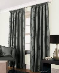 Silver Curtains For Bedroom Silver Grey Black Faux Silk Lined Cheap Curtain Cheap Curtains