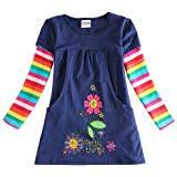 JUXINSU Winter Toddler Girl Flower Cotton Long ... - Amazon.com