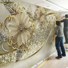 <b>beibehang papel de</b> parede 3D stereoscopic large mural of red ...