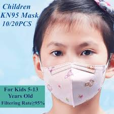 10/<b>20PCS Children KN95</b> Mask 5 to 13 Years Old High Level PM2.5 ...