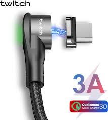 <b>Twitch</b> T03 <b>Magnetic</b> Micro USB Cable 3A Fast Charging Charger ...