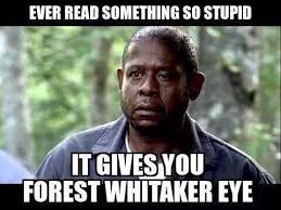 Forest Whitaker eye stupid | Necessary memes | Pinterest | Forests ... via Relatably.com