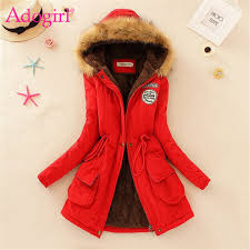 2019 Adogirl Plus Size <b>S 3XL Women Hooded</b> Parkas With Faux Fur ...