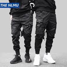 Hip Hop Black Pencil <b>Pants Men</b> Cargo <b>Pants Streetwear Men</b> ...