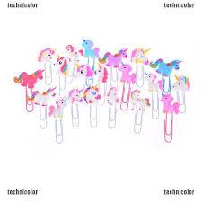 TCPH 5Pcs Creative <b>Unicorn</b> Bookmark <b>Kawaii</b> Markers Clip Kids ...