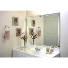 frame bathroom mirror kit kits home depot