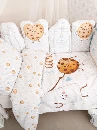 """Набор <b>бортиков в кроватку</b> """"Milk&Cookie"""" Крошка Я 7119288 в ..."""