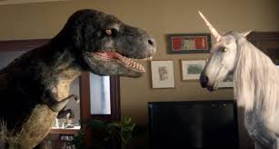 When a <b>T</b>-<b>Rex</b> Does Battle With a <b>Unicorn</b> in Your Home, You Better ...