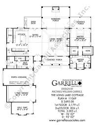 Long Lake Cottage House Plan   House Plans by Garrell Associates  Inc long lake cottage house plan   st floor plan