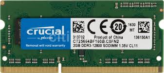 Купить <b>Модуль памяти CRUCIAL</b> CT25664BF160B <b>DDR3L</b> - 2ГБ в ...