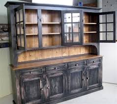 rustic hutch dining room: tall rustic dining room side board home china cabinets amp hutches custom