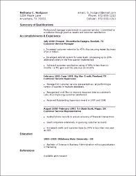 Example Resume  Summary Of Qualifications For Resume Customer Service Sample With Education And References