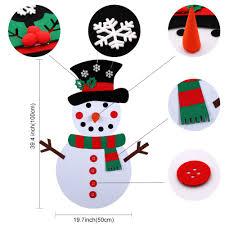 <b>OurWarm</b> Christmas <b>DIY</b> Felt Snowman New Year Gift Kids Toys ...