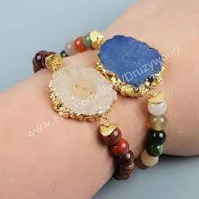 <b>1Pcs</b> Gold Plated Titanium Natural Solar Quartz <b>Adjustable</b> Bracelet ...