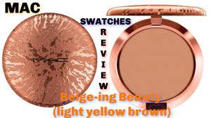 <b>MAC</b> Bronzer Radiant Matte (<b>Beige</b>-<b>ing Beauty</b>) SWATCHES ...
