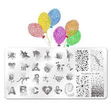 <b>BEAUTYBIGBANG 6*6CM</b> Square Nail <b>Stamping Plate</b> Animal ...