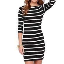 Buy <b>fashion</b> women <b>black white</b> stripe and get free shipping on ...