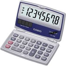 Casio SL-100L 8-Digit <b>Folding</b> Solar <b>Calculator</b>, <b>Large</b> Display ...