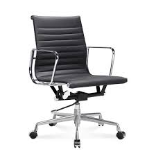mid back aluminum office chair black italian leather black office chair