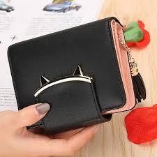 <b>2019</b> Women <b>Cute</b> Cat <b>Mini Wallets</b> Design Coin <b>Purse</b> Leather ...
