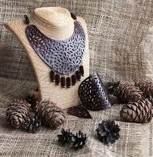Колье и <b>браслет</b> кожаные Deep Forest. Handmade. | Кожаные ...